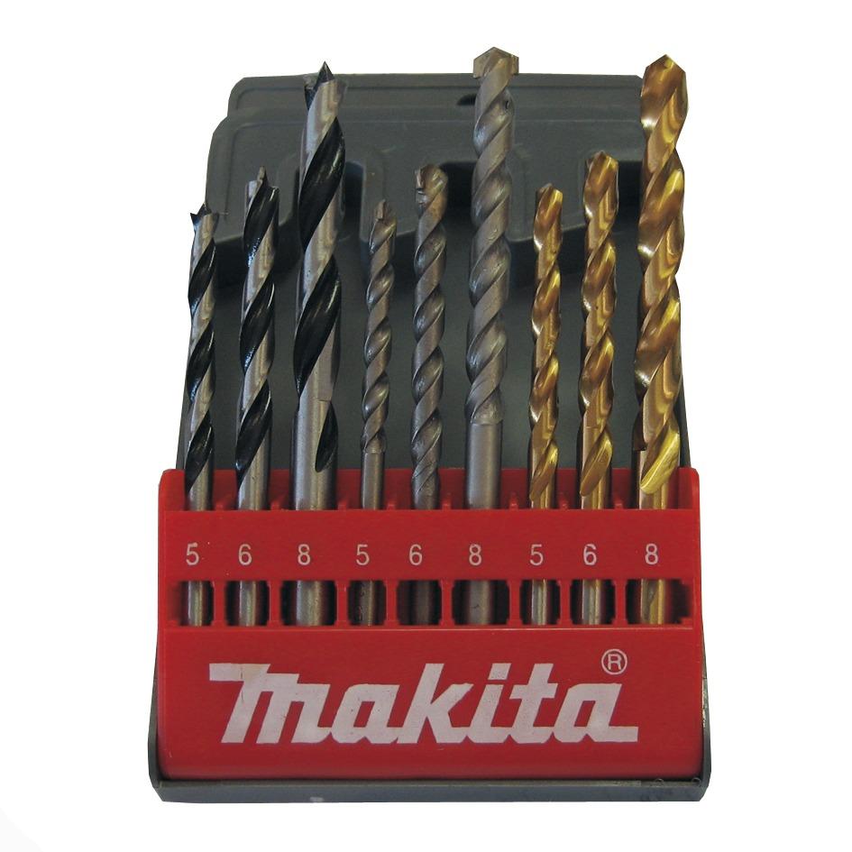 MAKITA D-08660 sada vrtáků do dřeva, kovu a zdiva, 9 dílů