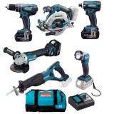 Makita DLX6076T aku sada včetně 3 baterií 18V/5,0Ah, rychlonabíječky, tašky
