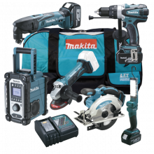 Makita DLX6008 aku sada 4 stroje Li-on