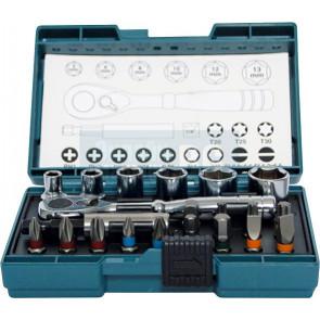 Makita B-54081 sada bitů a nástrčkových klíčů s ráčnou 21ks