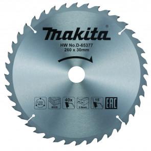 Makita D-65377 pilový kotouč 260mm x 30mm x 40T