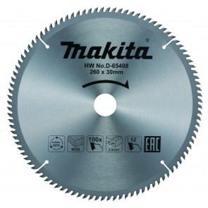 Makita D-65408 pilový kotouč 260mm x 30mm x 100T