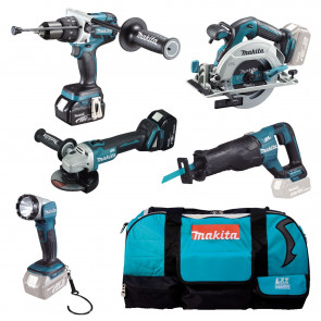 Makita DLX5034T aku sada včetně 2 baterií 18V/5,0Ah, rychlonabíječky, přepravní tašky s kolečky