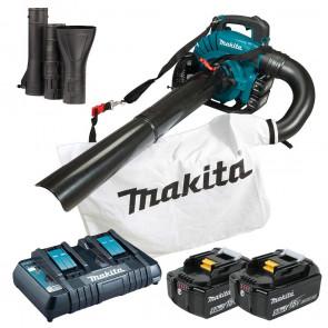 Makita DUB363PT2V 2x aku baterie 5,0Ah, rychlonabíječka