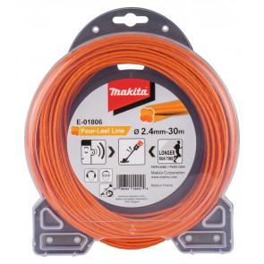 Makita E-01806 struna nylonová 2,4mm, oranžová, 30m, speciální pro aku stroje