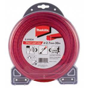 Makita E-01834 struna nylonová 2,7mm, červená, 30m, speciální pro aku stroje