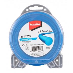 Makita E-02733 struna nylonová 1,65mm, 15m, modrá, kulatá