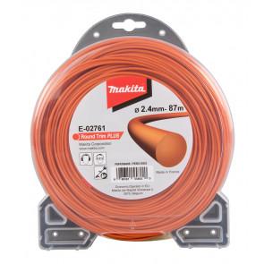 Makita E-02761 struna nylonová Plus 2,4mm, 87m, oranžová, kulatá