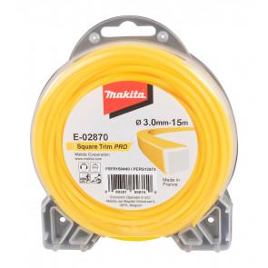 Makita E-02870 struna nylonová Pro 3,0mm, 15m, žlutá, hranatá