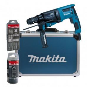 Makita HR2631FT13 hliníkový kurf + sada vrtáků