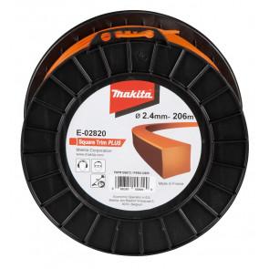 Makita E-02820 struna nylonová Plus 2,4mm, 206m, oranžová, hranatá
